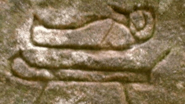 The hieroglyphs at Kariong suggest a burial place or tomb