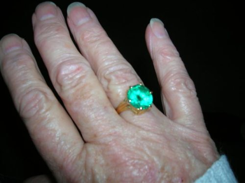 green ring from Sai Baba